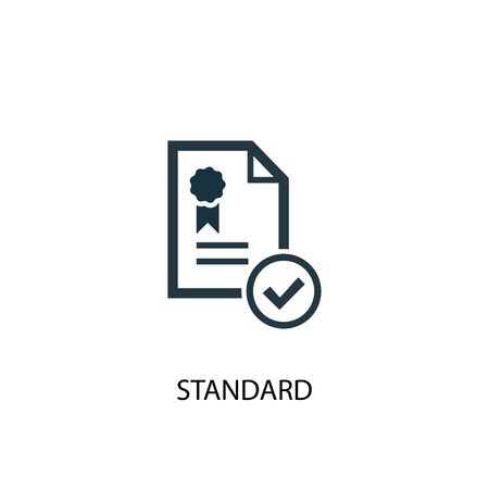 standard icon. Simple element illustration. standard concept symbol design. Can be used for web Vettoriali