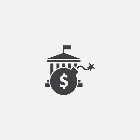 Government debt base icon. Simple sign illustration. Government debt symbol design. Can be used for web and mobile