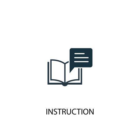 icono de instrucción. Ilustración de elemento simple. diseño de símbolo de concepto de instrucción. Puede usarse para web
