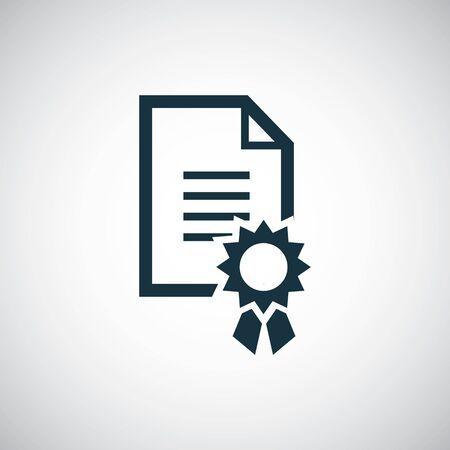 charter icon simple flat element design concept