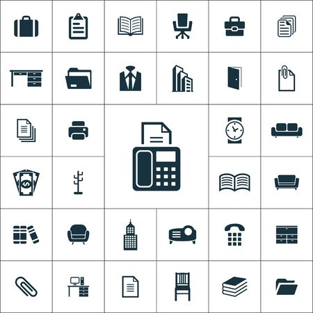 conjunto de iconos de oficina universal para web y interfaz de usuario