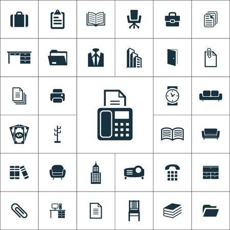 uniwersalny zestaw ikon biurowych dla sieci i interfejsu użytkownika