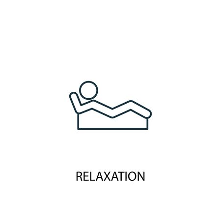 relaxation concept line icon. Simple element illustration. relaxation concept outline symbol design. Can be used for web and mobile