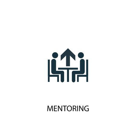 Mentoring icon. Simple element illustration. Mentoring concept symbol design. Can be used for web Illustration