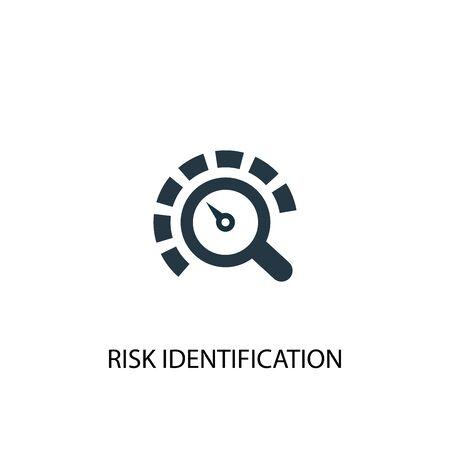 Risk Identification icon. Simple element illustration. Risk Identification concept symbol design. Can be used for web Foto de archivo - 133749021