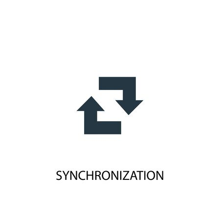 synchronization icon. Simple element illustration. synchronization concept symbol design. Can be used for web