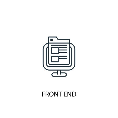 front end concept line icon. Simple element illustration. front end concept outline symbol design. Can be used for web and mobile