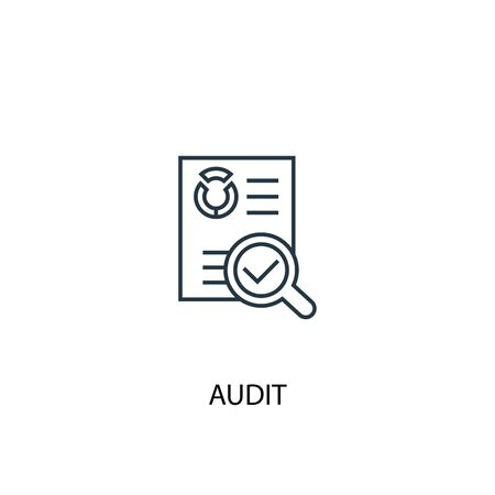 audit concept line icon. Simple element illustration. audit concept outline symbol design. Can be used for web and mobile Stock fotó - 133749051