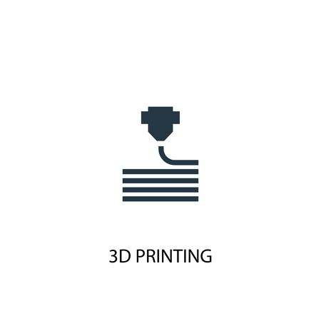 3d printing icon. Simple element illustration. 3d printing concept symbol design. Can be used for web