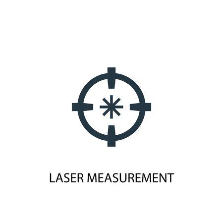 Laser measurement icon. Simple element illustration. Laser measurement concept symbol design. Can be used for web