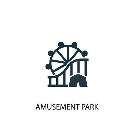 amusement park icon. Simple element illustration. amusement park concept symbol design. Can be used for web