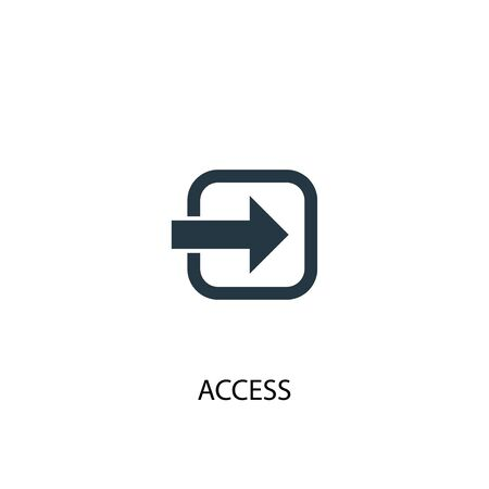 access icon. Simple element illustration. access concept symbol design. Can be used for web
