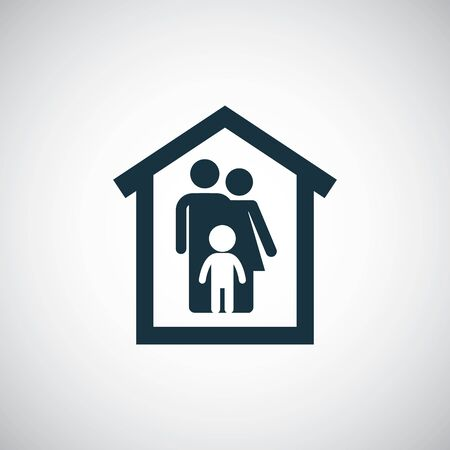 family home icon for web and UI on white background
