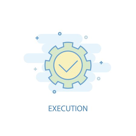execution line concept. Simple line icon, colored illustration. execution symbol flat design. Can be used for