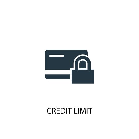 Credit Limit icon. Simple element illustration. Credit Limit concept symbol design. Can be used for web Stock Illustratie