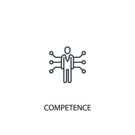 competence concept line icon. Simple element illustration. competence concept outline symbol design. Can be used for web and mobile 向量圖像