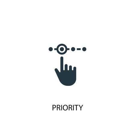 priority icon. Simple element illustration. priority concept symbol design. Can be used for web