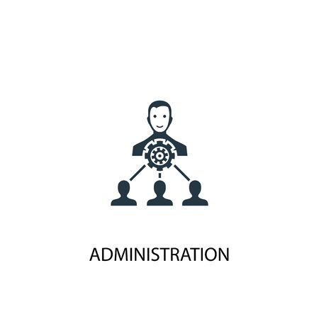 administration icon. Simple element illustration. administration concept symbol design. Can be used for web