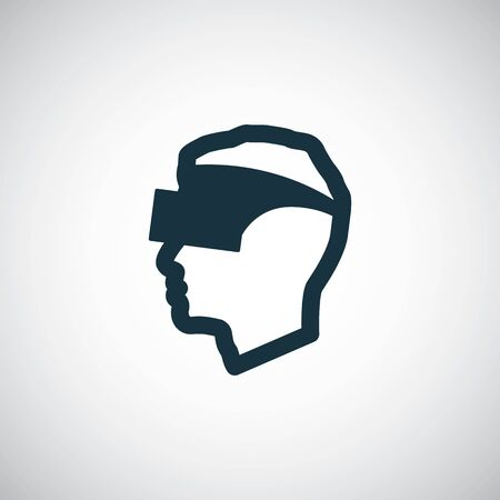 virtual reality glasses icon simple flat element design concept