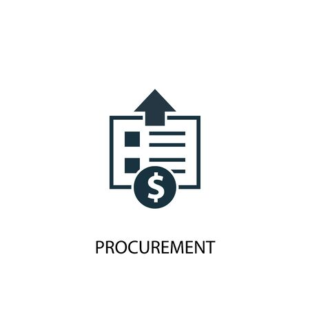 procurement icon. Simple element illustration. procurement concept symbol design. Can be used for web