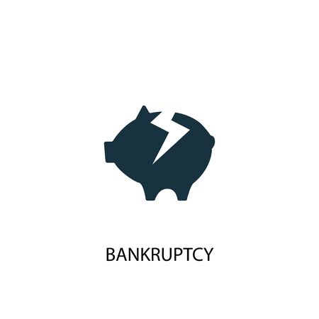 Bankruptcy icon. Simple element illustration. Bankruptcy concept symbol design. Can be used for web  イラスト・ベクター素材