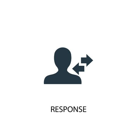 response icon. Simple element illustration. response concept symbol design. Can be used for web