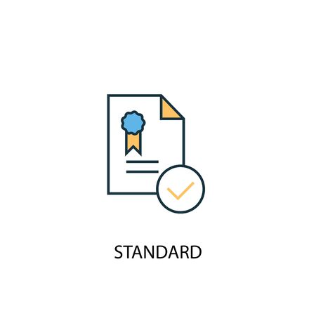 standard concept 2 colored line icon. Simple yellow and blue element illustration. standard concept outline design Stok Fotoğraf - 133749137