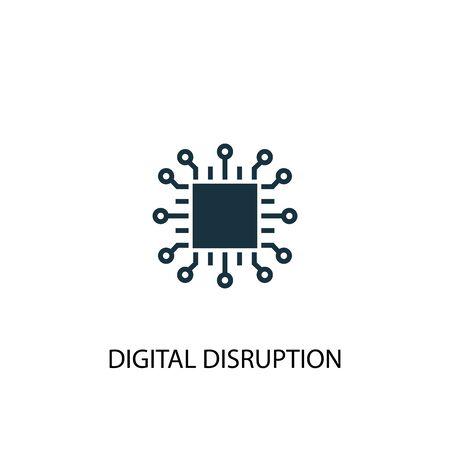 digital disruption icon. Simple element illustration. digital disruption concept symbol design. Can be used for web