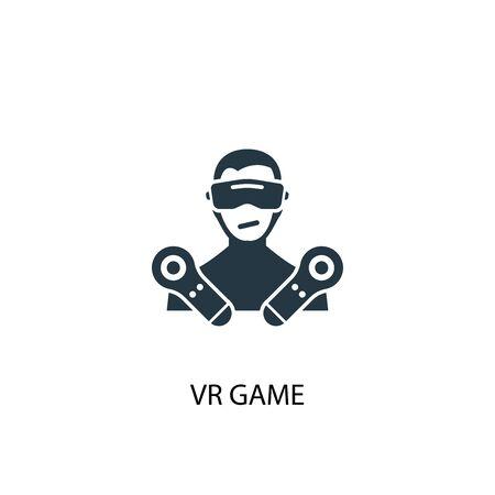 VR game icon. Simple element illustration. VR game concept symbol design. Can be used for web Illustration