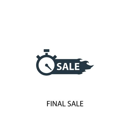 final sale icon. Simple element illustration. final sale concept symbol design. Can be used for web