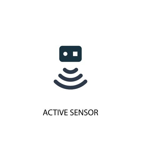 Active Sensor icon. Simple element illustration. Active Sensor concept symbol design. Can be used for web Banque d'images - 133749155