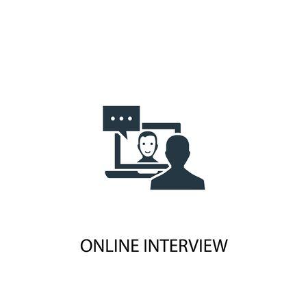 icône d'entretien en ligne. Illustration d'élément simple. conception de symbole de concept d'entrevue en ligne. Peut être utilisé pour le Web et le mobile.