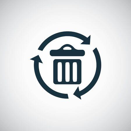 bin recycle icon simple flat element concept design 일러스트