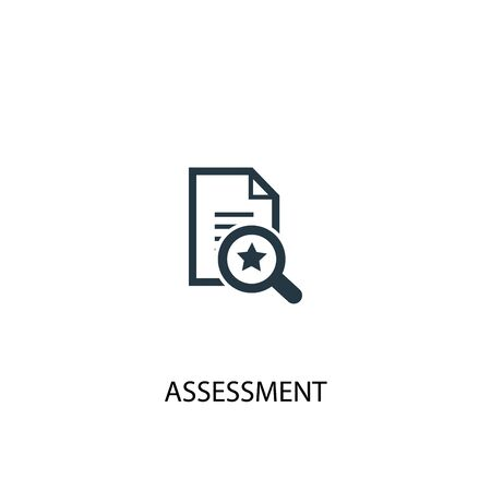 assessment icon. Simple element illustration. assessment concept symbol design. Can be used for web Illustration