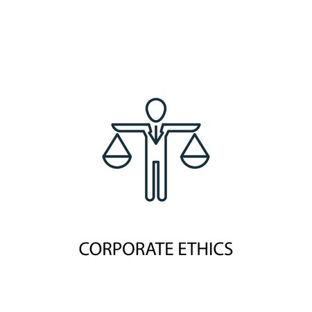 corporate ethics concept line icon. Simple element illustration. corporate ethics concept outline symbol design. Can be used for web and mobile