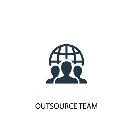 outsource team icon. Simple element illustration. outsource team concept symbol design. Can be used for web and mobile. Illustration