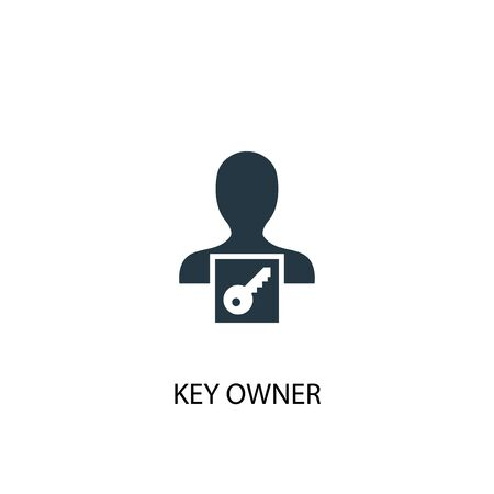 key owner icon. Simple element illustration. key owner concept symbol design. Can be used for web Ilustração