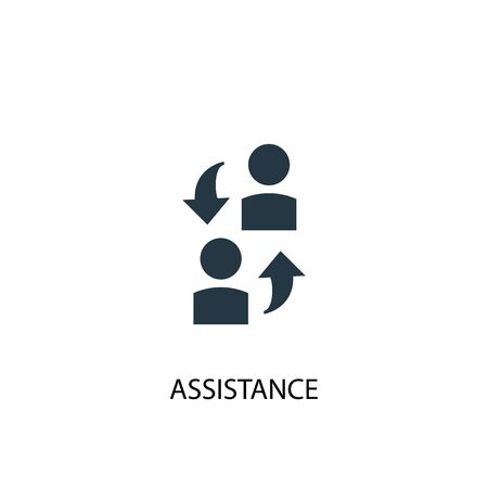 assistance icon. Simple element illustration. assistance concept symbol design. Can be used for web  イラスト・ベクター素材