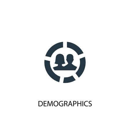 demographics icon. Simple element illustration. demographics concept symbol design. Can be used for web