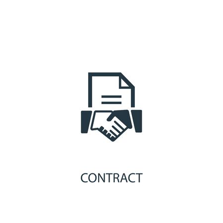 contract icon. Simple element illustration. contract concept symbol design. Can be used for web