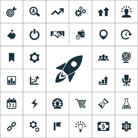 startup icons universal set for web and UI