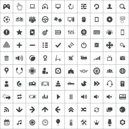 game 100 icons universal set for web and UI. Stock fotó - 133749203