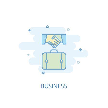 Business line concept. Simple line icon, colored illustration. Business symbol flat design