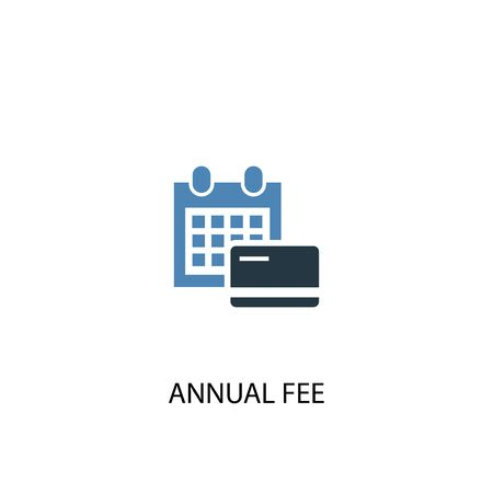 Annual Fee concept 2 colored icon. Simple blue element illustration. Annual Fee concept symbol design. Can be used for web and mobile Stok Fotoğraf - 133749214