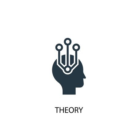 theory icon. Simple element illustration. theory concept symbol design. Can be used for web