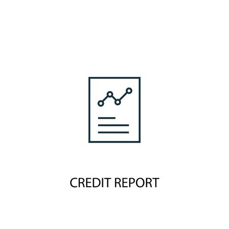 Credit report concept line icon. Simple element illustration. Credit report concept outline symbol design. Can be used for web and mobile Illusztráció