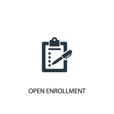 Open Enrollment icon. Simple element illustration. Open Enrollment concept symbol design. Can be used for web