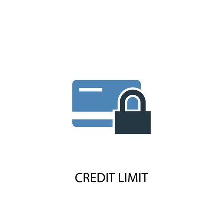 Credit Limit concept 2 colored icon. Simple blue element illustration. Credit Limit concept symbol design. Can be used for web and mobile Ilustração
