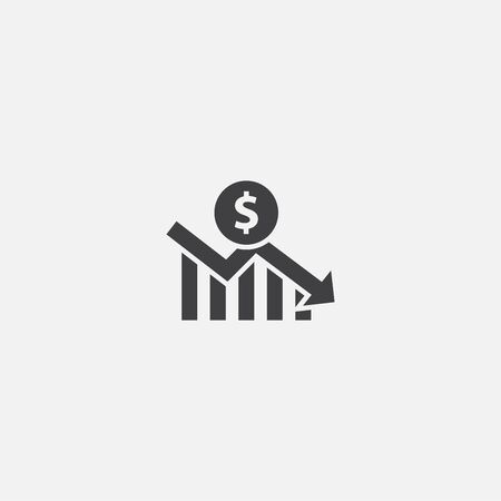 financial crisis base icon. Simple sign illustration. financial crisis symbol design. Can be used for web and mobile  イラスト・ベクター素材
