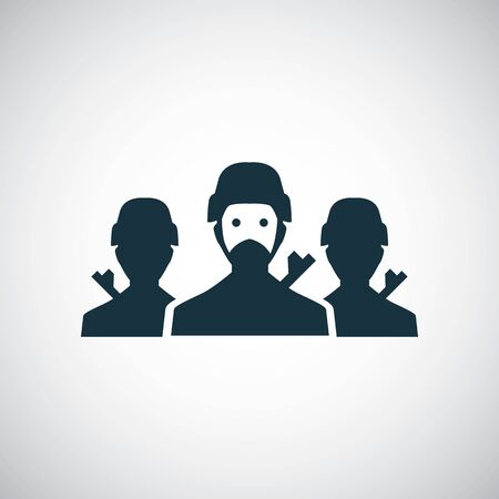 soldiers group icon for web and UI on white background